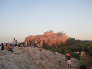 acropolis at sunset