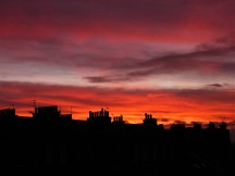 sunset edinburgh