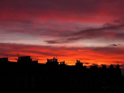 sunset edinburgh