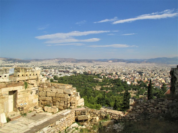Athens and ruins