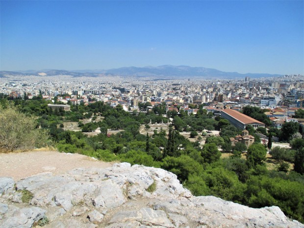 Athens from the rock