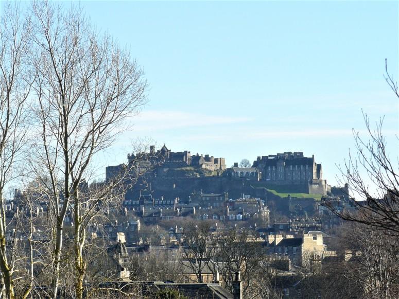 Edinburgh Botanic Gardens castle view