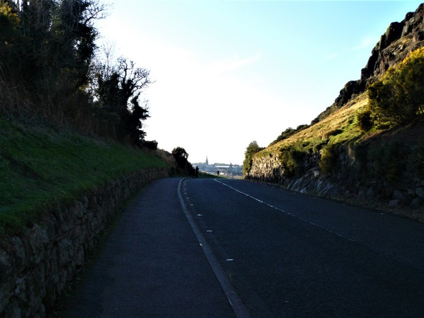 Edinburghy city in the distance