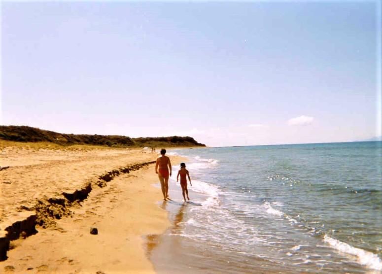 Kefalonia Walking along the beach