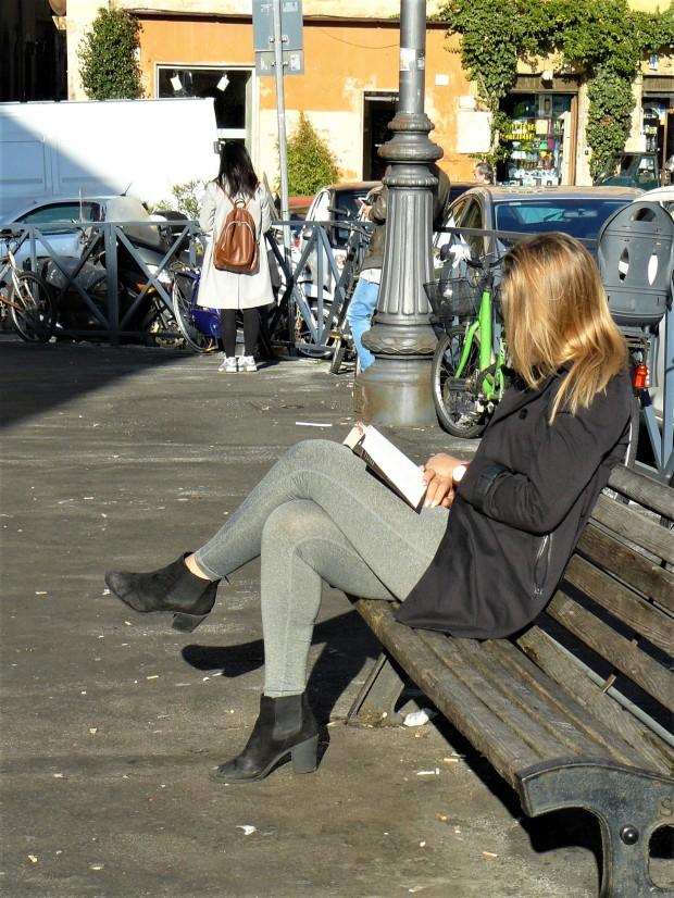 rome-person-reading
