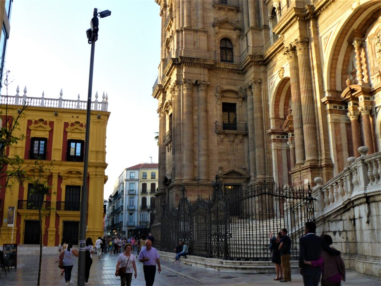 cathedral and yellow building