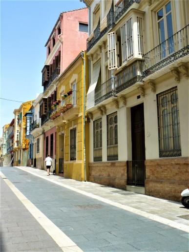 malaga colourful street