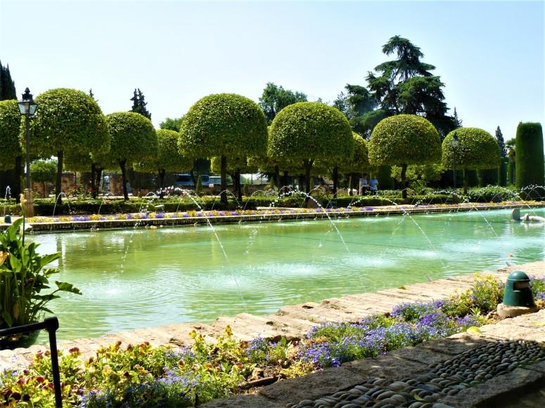 blue cordoba palace gardens