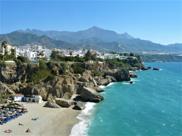 blue nerja sea