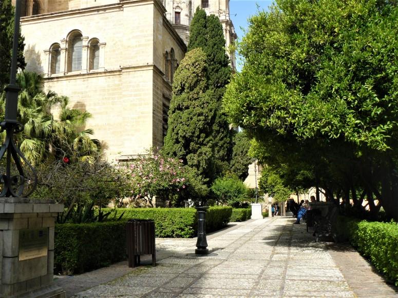 green malaga cathedral gardens