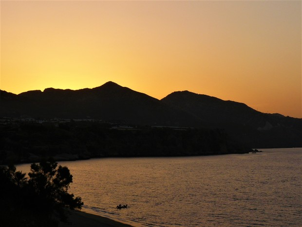 orange nerja sunrise