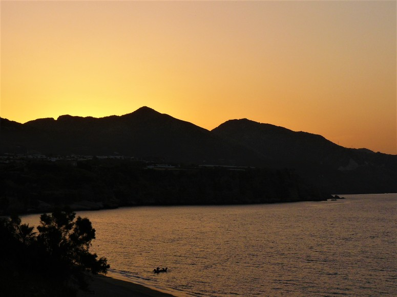 orange nerja sunrise
