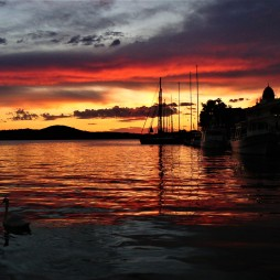 sibenik sunset croatia