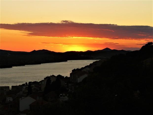 sibenik sunset fortress 4