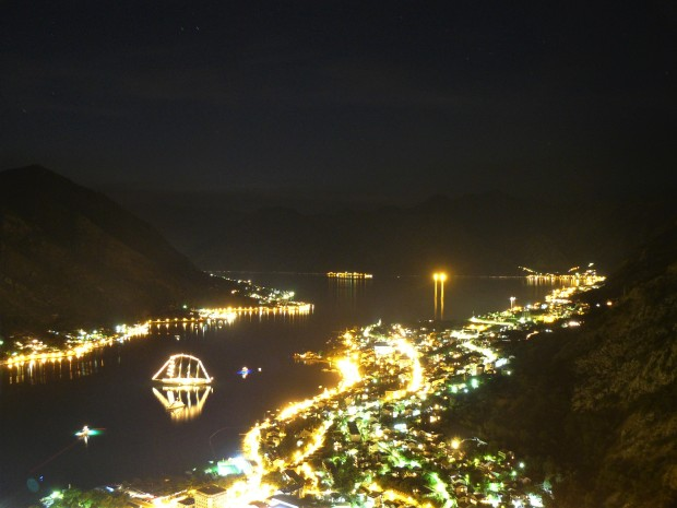kotor monastery night