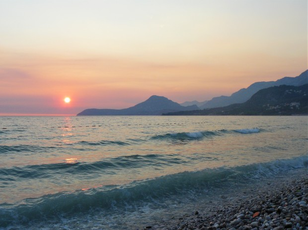 montenegro beach sunset