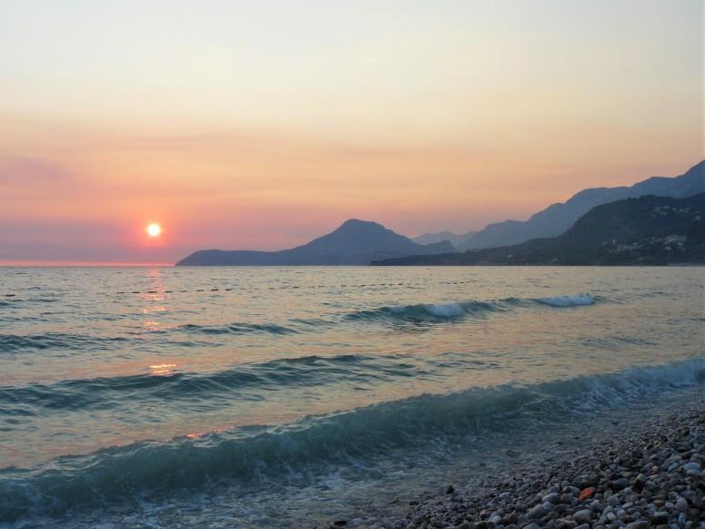 montenegro beach sunset