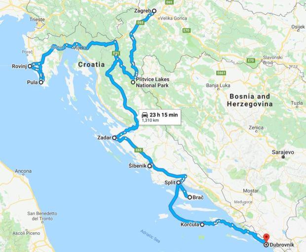 Croatia route