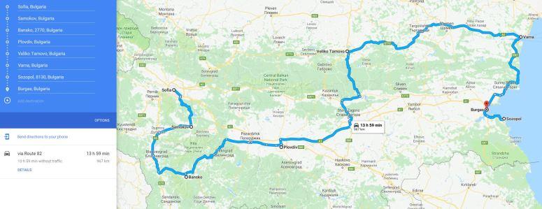 bulgaria route