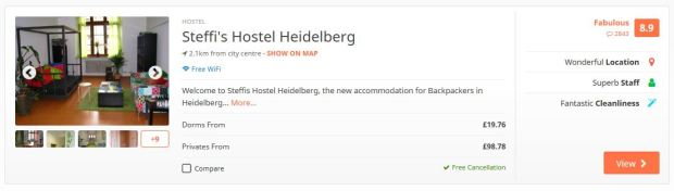 Heidelberg hostel example