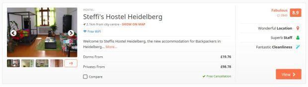 Heidelberg hostel example