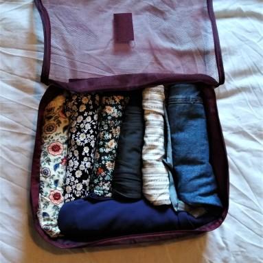 capsule travel wardrobe packing cube 1