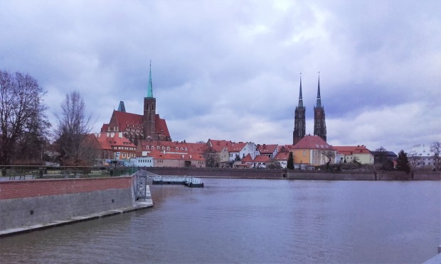 wroclaw over the river