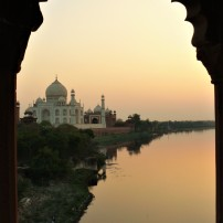 taj mahal sunset 3