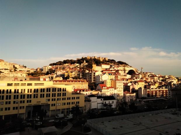 lisbon rooftop sunset