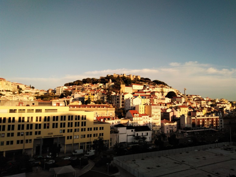 lisbon rooftop sunset